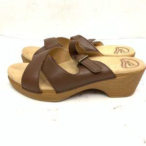 Dansko | Slip On Leather Strap Clog Sandals Sz 9